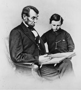 Tad with his father Lincoln