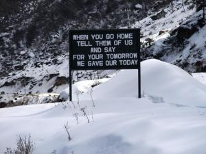 A board at Jaswant Garh reflecting the emotions of our Indian soldiers
