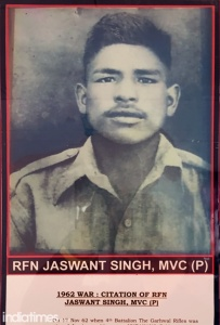 Photo of Rifleman Jaswant Singh Rawat, 4 Garhwal Rifles